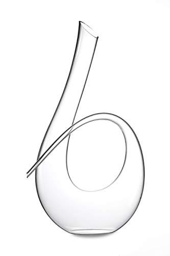 Twisted Horn Wine decanter di cristallo senza piombo decanter che tiene fino a 992,2gram. (1litro)...