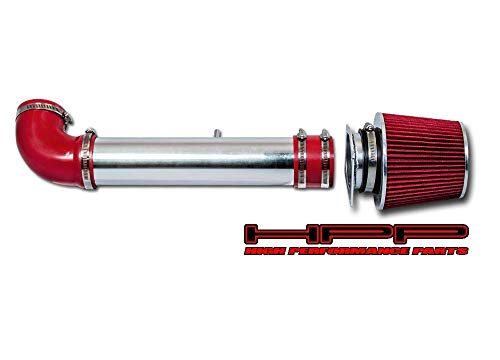 High Performance Parts Short Ram Air Intake Kit & Red Filter Combo Compatible for 1997-2003 F-150 F150 4.2 V6 Engine