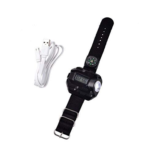 CS-LJ Camping Licht Led Taschenlampe USB Blendung Taschenlampe Multifunktionsuhr Licht (ohne Batterie)