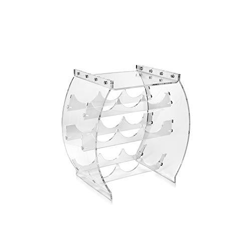 iPLEX - Bacchus Cantinetta Porta Bottiglie Vino Trasparente in plexiglass Dim. 42x40,5x26,5 cm Made in Italy - Arredamento casa