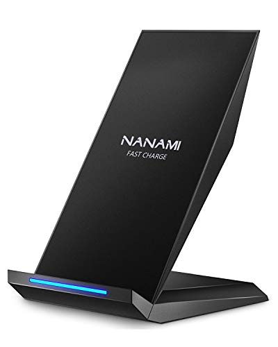 Qi 急速 ワイヤレス充電器 NANAMI Quick Charge 2.0 二つのコイル Qi認証済み ワイヤレスチャージャー 置く...