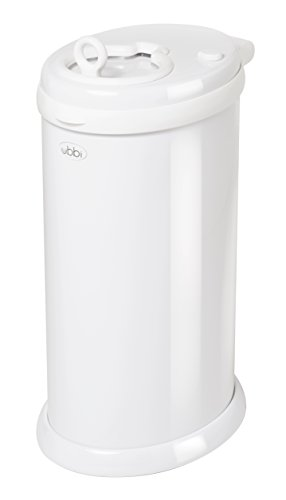 2. Ubbi Steel Diaper Pail, White