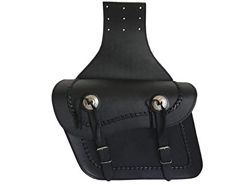 Motorrad-Satteltaschen aus Leder, universal, Schwarz