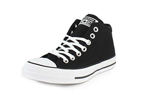 Converse Women's Chuck Taylor All Star Madison Mid Top Sneaker, Black/Black/White, 7 M US