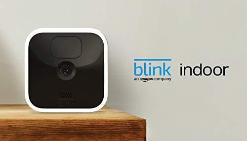 Blink Indoor, Videocamera di sicurezza in HD, senza fili, batteria autonomia 2 anni, rilevazione movimento, comunicazione bidirezionale | 1 videocamera