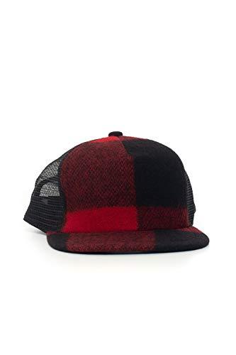 Woolrich Cappello con Visiera Nero/Rosso Lana Uomo