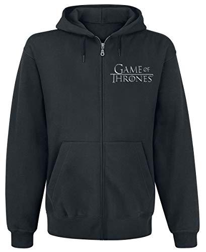Game Of Thrones Juego de Tronos House Stark Capucha con Cremallera Negro XL