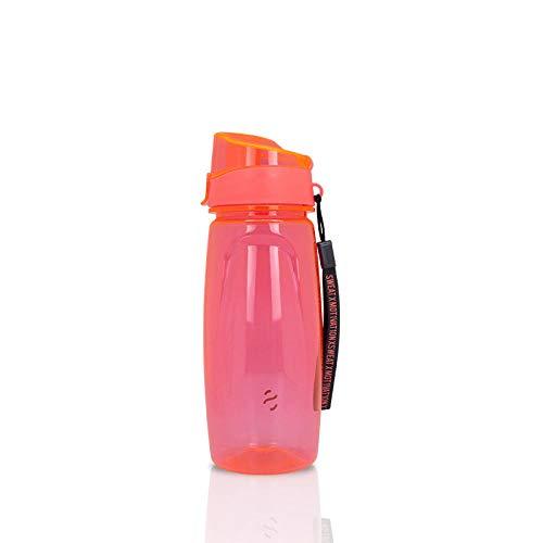 HUANDATONG Tazza di Spazio Bottiglia Acqua Tazza di Plastica Sport Bollitore Fitness Equitazione Bollitore Portatile-Pink_500Ml-1000Ml
