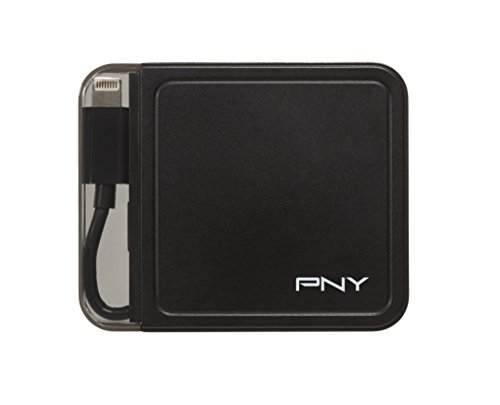 PNY 1500mAh Portable Rechargeable Battery Charger with Built in Connector for iPhone (P-B-1500-L-K01-FFP)