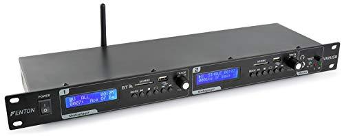 Fenton - mod. VX2USB Lettore a 2 canali per DJ, con porta USB che legge formati MP3 e slot SD/MMC, interfaccia Bluetooth, funzione di registrazione - colore: nero
