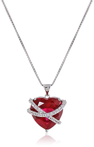 Amazon Collection Sterling Silver Created Ruby and Created...