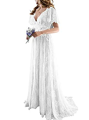 This elegant long lace wedding dress is suitable for the evening, party, wedding, brithday and some special occasions Please use our size chart on the left because our size is not the same size as Amazon.Only accept custom made.Please send us your sp...