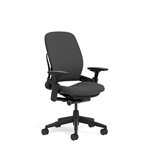 Steelcase Leap Task Chair: Black Base - 4D...