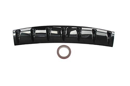 MOTOKU Universal Rear Bumper Lip Diffuser Spoiler 7 Shark Fin Style Gloss Black ABS 33' x 6'