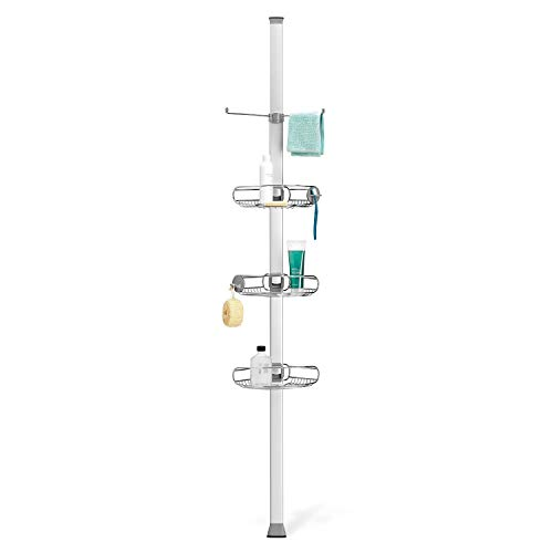 simplehuman Tension, Stainless Steel + Anodized Aluminum Shower Caddy Organizer