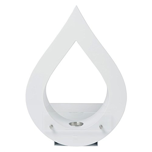 Teardrop freestanding bioethanol fire, rare design, elegant flame, easily used as home decor