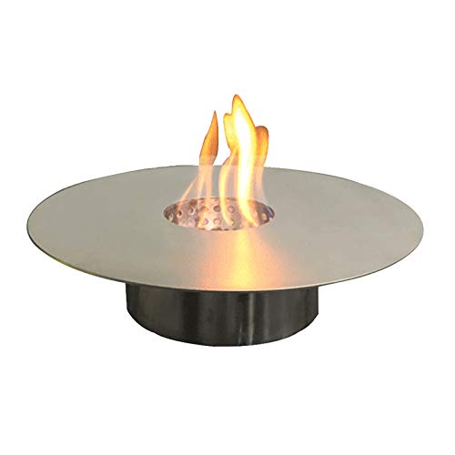 YITIE Ethanol Fireplace Round - Secure Burning System, PVD 304 Stainless Steel - Alcohol Fire Pit for Living Room/Balcony/Garden (Diameter:35cm)