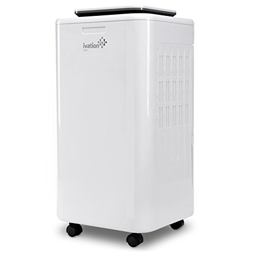 Ivation 11 Pint Small Compressor Dehumidifier - with Continuous Drain Hose for Smaller Spaces, Bathroom, Attic, Crawlspace and Closets - for Spaces Up to 216 Sq/Ft