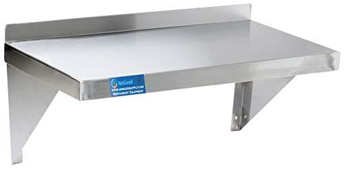 AmGood 12' x 30' Stainless Steel Wall Shelf   Appliance & Equipment Metal Shelving   Kitchen, Restaurant, Garage,...
