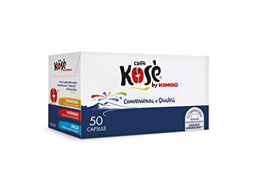 Kosè by Kimbo Capsule Cremoso Compatibili Lavazza A Modo Mio, 50 Pezzi