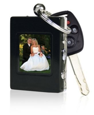 The Sharper Image Digital Photo Keychain, Black