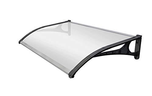 SmartSun Marquesina Evoke aluminio 120x80cm. Grosor 2,7mm ultraresistente. Tejadillo puerta protección