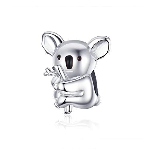 FeatherWish Breloque koala en argent sterling925 pour bracelet Pandora