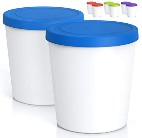 Premium Ice Cream Containers (2 PACK - 1 Quart Each)