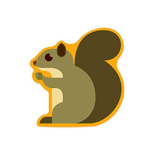 Gray Squirrel, Geometric Vinyl Die-Cut Sticker (Waterproof Decal for Cars, Water Bottles, Laptops, Coolers), Small