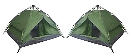 The Outside Edge Set of 2 Instant Automatic Pop Up Tents Backpacking Camping Hiking 4 Man