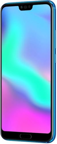 Honor 10 Dual SIM, 128 GB storage, 24 MP Dual Camera and 5.84 Inch Full View Display, UK Official Device - Phantom Blue