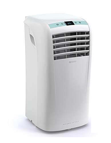 Olimpia Splendid 1961 01961 Dolceclima Compact 10 P Portable Air Conditioner Unit with Cooling, Fan, Dehumidifier 10.000 BTU/h, Gas R290, Design Made in Italy, White