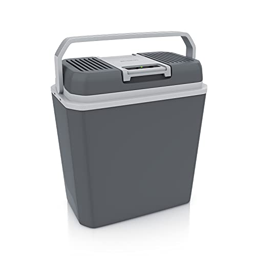 Brandson NUOVO Frigo Portatile 12V e 220V AC/DC raffredda e riscalda 24 Litri max. 50C e - 18C della temperatura esterna modalit ECO 43 x 40 x 25 cm Cool Grey - OFFERTA LANCIO