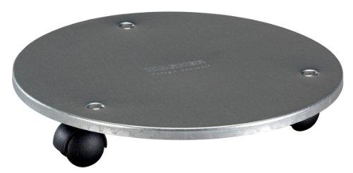 WAGNER Pflanzenroller - STAHL - Stahl verzinkt, silberfarben, Durchmesser 30 x 5 cm, Tragkraft 60 kg - 20006601
