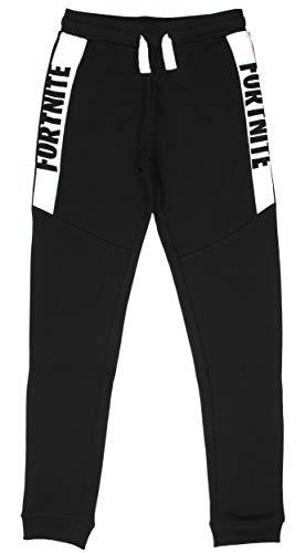 Fortnite Pantalones Sweatpants, BlancoNegro, 164/14 Años