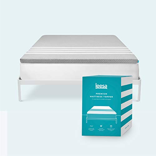 Leesa Cooling Foam Mattress Topper, Superior Quality in a Box, With Washable Cover, Queen Size