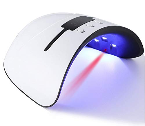 NailGlam - Lampada a LED per manicure e pedicure per unghie con lampada UV a LED, 3 impostazioni...