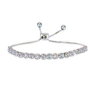 Adjustable Pull Chain Tennis Bracelet