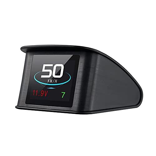 Lttrbx. T600 Universal Car HUD Head Up Display Digital GPS Speedometer with Speedup Test Brake Test Overspeed Alarm TFT LCD Display for All Vehicle