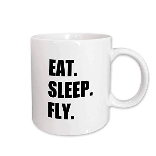 NA mug_180404_2 Eat Sleep Fly Cadeaux Amusants pour l'équipage de Conduite...