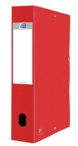 Elba 100200465RO - Contenitore portadocumenti Eurofolio Prestige, in speciale cartone robusto, per circa 600 fogli A4, colore: rosso