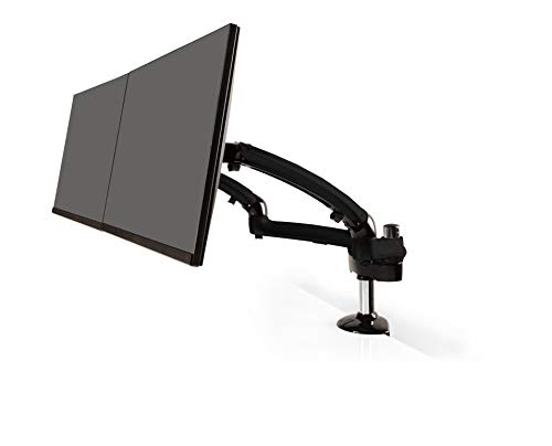 Ergotech Dual Freedom Arm, Includes Two Aluminum Articulating Arms, 8.4-17.8 lbs. Weight Capacity per Arm, Suitable for Monitors up to 27 inches, VESA Compatible 7575, 100100, Gray