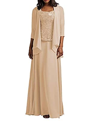 Features:A-Line ,Floor Length Style;Half Sleeves;Scoop Neckline;Lace. Fabric: High quality chiffon fabric,comfortable to wear Size Note: Different 1-3cm is allowed due to the different measurement method .When you received the items unsuitable for yo...