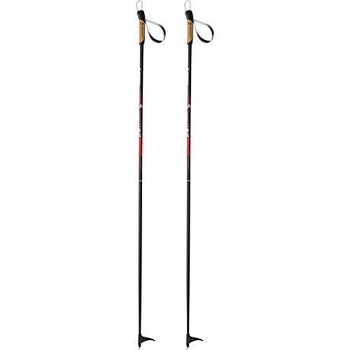TECNOPRO Langlauf-Stock Active Alu Comfort Langlaufstöcke, Schwarz/Rot, 150