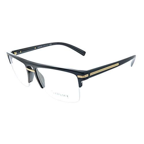 Versace Greca Aegis VE 3269 GB1 Black Plastic Square Eyeglasses...