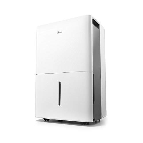 MIDEA MAD20C1ZWS Dehumidifier for up to 1500 Sq Ft with Reusable Air Filter, Ideal for Basement, Bedroom, Bathroom, 20 Pint-2019 DOE (Previous 30 Pint), White