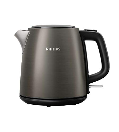 Philips Daily Collection HD9349/10 Wasserkocher, 2000 W, 1 l, Titan – Wasserkocher (2000 W, AC, 220 – 240, 50/60 Hz, 970 g, 250 mm)
