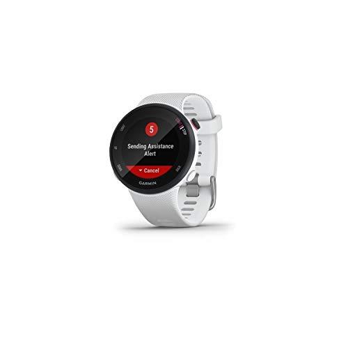 Garmin Forerunner 45S – GPS-Laufuhr im schlanken Design mit umfangreichen Lauffunktionen, Trainingsplänen, Herzfrequenzmessung am Handgelenk, für schlanke Handgelenke, Smartphone Benachrichtigungen