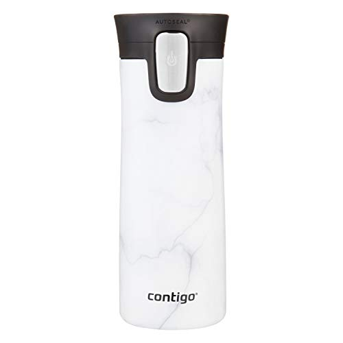 Contigo Stainless Steel Coffee Couture Autoseal Vacuum-Insulated Travel Mug, 14 Oz, Whte Marble