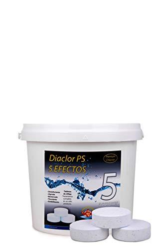 Cloro para Piscinas DIACLOR PS 5 Efectos 5 KG - 25 Pastillas